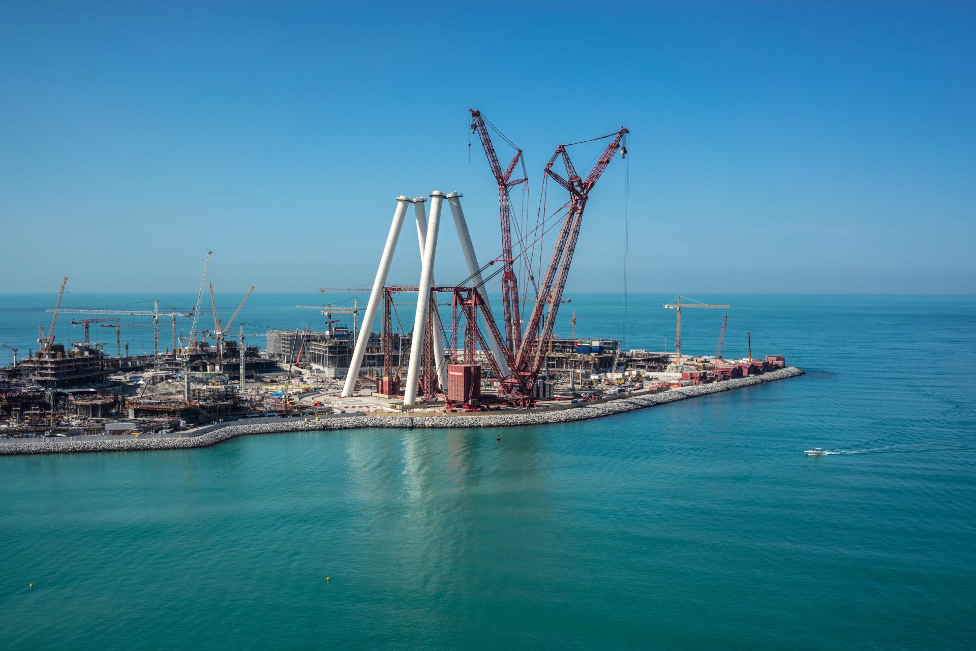 Blue Waters Island, Dubai Eye construction.