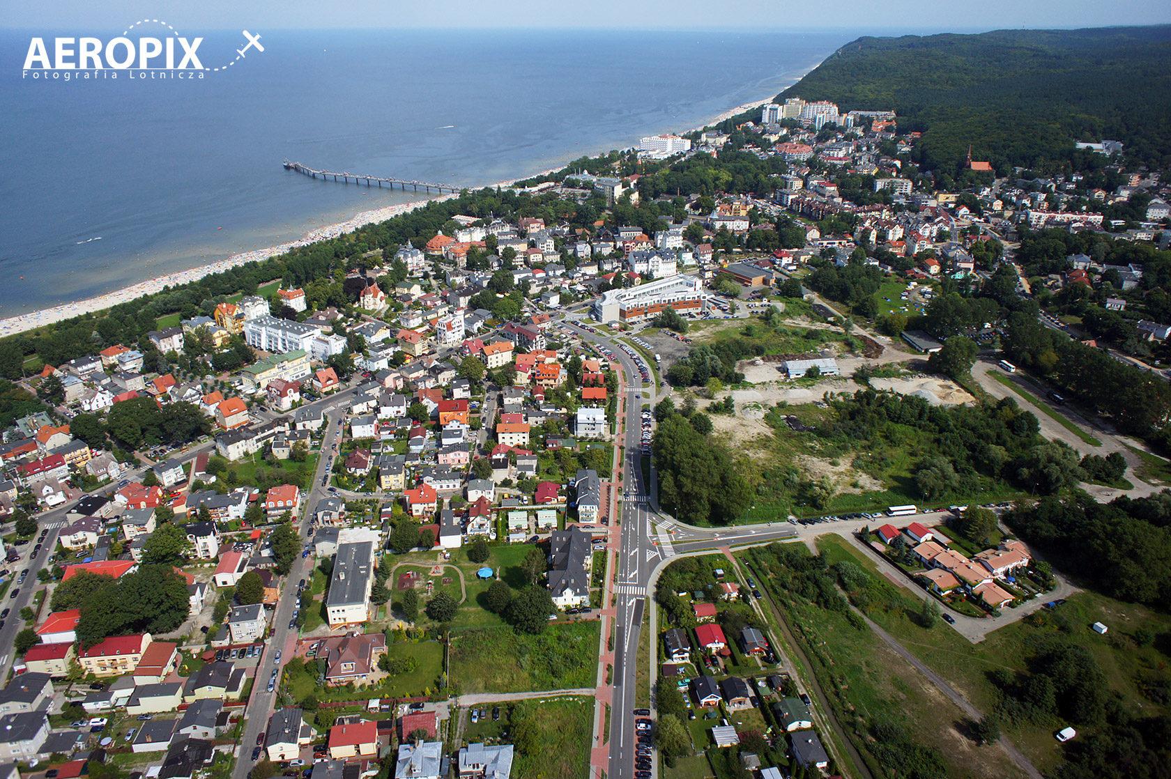 Ulica Nowomyśliwska w Międzyzdrojach
